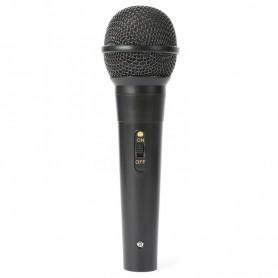 Microfono in plastica economico per karaoke con cavo non sostituibile