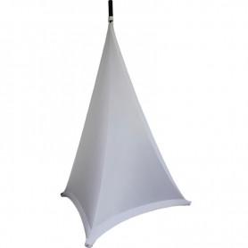Tessuto Lycra copri stativo casse o luci bianco 160x120 non ignifugo