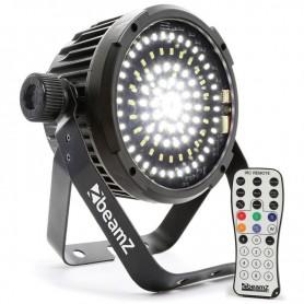 PAR STROBO LED COMPATTO 98 LED SMD5730 DMX 4/9CH