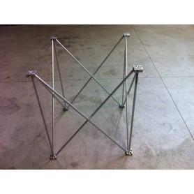 75x75 h. 40 Struttura modulare reticolare apertura a fisarmonica 75x75 altezza 40 utile per piani consolle dj 0,75x0,75