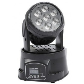 Mini testa mobile Wash PROEL 7 led da 10w RGBW