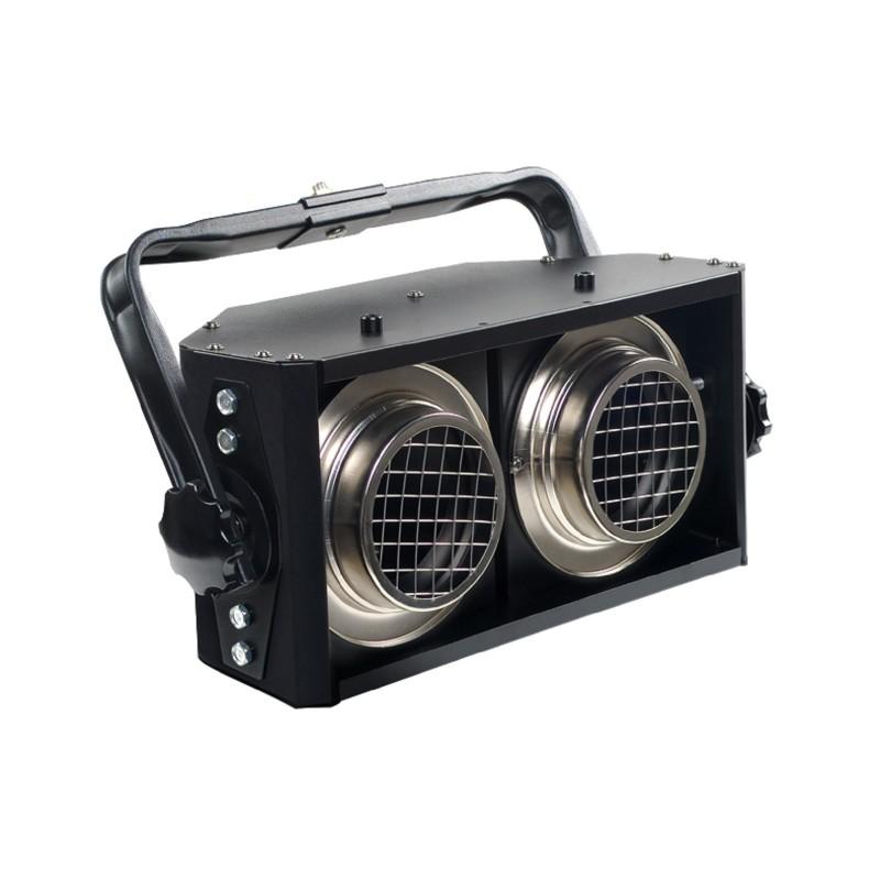 BLINDER 2 Lampade accecatore PROEL cablato con lampade GE 650w
