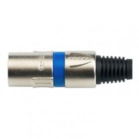 XLR a Saldare PROEL 3 poli maschio spina con anello blu