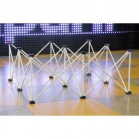 Struttura Palco modulare reticolare apertura a fisarmonica 1x1 altezza 40