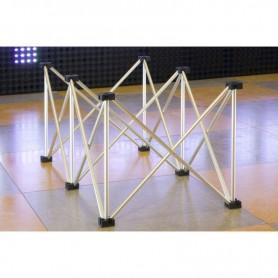 Struttura Palco modulare reticolare apertura a fisarmonica 1x0,5 altezza 40