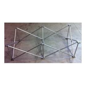 Struttura Palco modulare reticolare apertura a fisarmonica 2x1 altezza 60