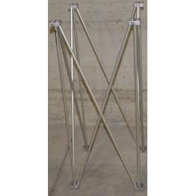 Struttura modulare reticolare apertura a fisarmonica 50x50 altezza 100 utile per piani consolle dj