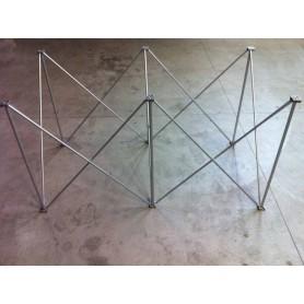 Struttura modulare reticolare apertura a fisarmonica 150x75 altezza 80