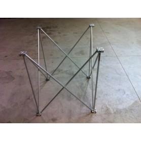 50x50 h. 40 Struttura modulare reticolare apertura a fisarmonica 50x50 altezza 40 utile per piani consolle dj 0,5x0,5