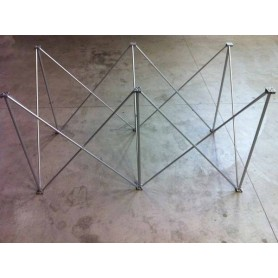 100x50 h. 60 Struttura modulare reticolare apertura a fisarmonica 100x50 altezza 60 1x0,5