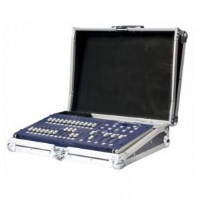 """Flight Case per consolle mixer luci coperchio removibile 6U unità rack 19"""""""