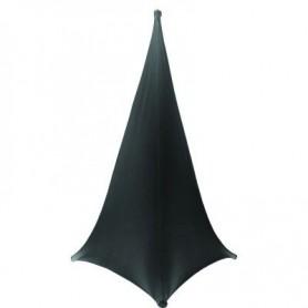 Copertura per stativi luci audio in lycra nera. Elastica 120 cm