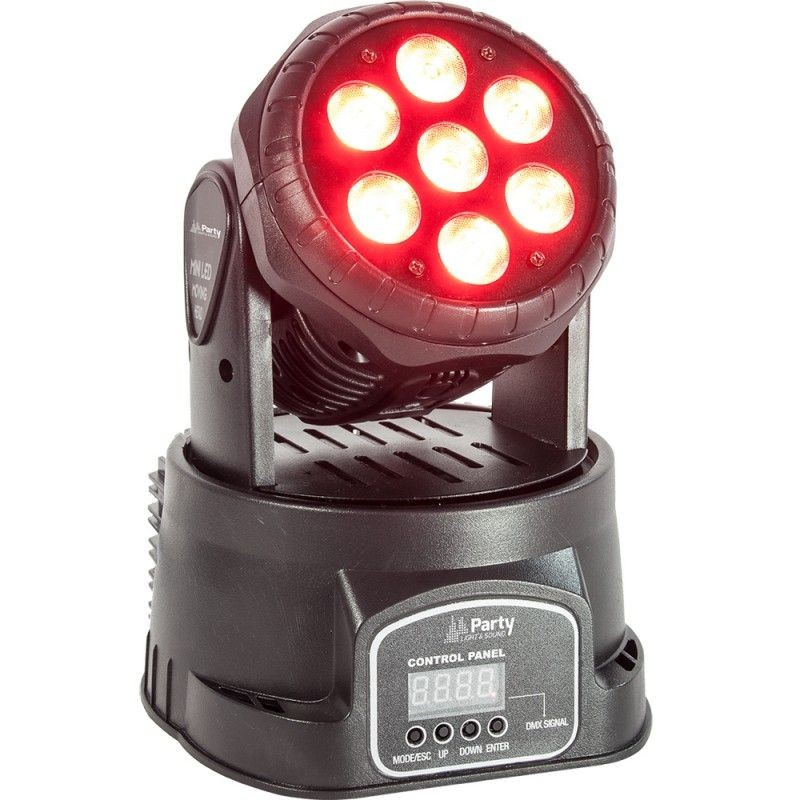 Testa Mobile Moving Head Mini Wash LED 7 x 8W RGBW 4in1