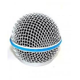 Griglia palla di ricambio per microfoni con anello azzurro compatibile shure beta 58a
