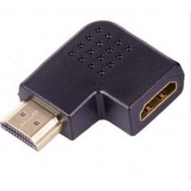 CONNETTORE ADATTATORE HDMI AD ANGOLO 90 GRADI MASCHIO + FEMMINA