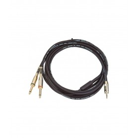Cavo audio professionale da minijack 3.5mm a doppio jack 6.3mm 1.5Mt