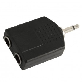 Soundsation Adattatore jack Maschio 3,5mm mono - 2 jack Femmina 6,3mm