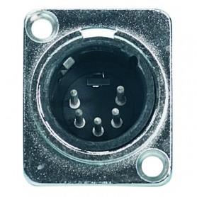 Spina da pannello XLR 5 poli maschio nickelata in alluminio PROEL