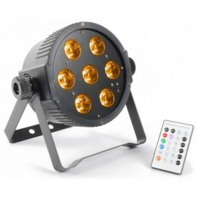 PAR LED 7x15w RGBWA  DMX flat par con ventola di raffreddamento 5in1