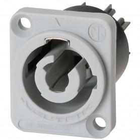 Connettore DA PANNELLO NEUTRIK RETE POWERCON grigio output 250V 20A TIPO B