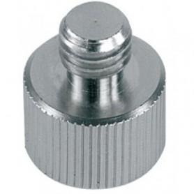 Adattatore cromato per supporti microfonici e aste 3/8' - 5/8'