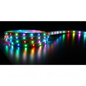 STRISCIA LED STRIP ADESIVA 3M RGB IP65 CON TELECOMANDO 5 METRI 300 LED