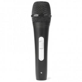 Microfono nero economico con interruttore on/off e cavo incluso