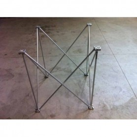1x1 h. 40 Struttura Palco modulare reticolare apertura a fisarmonica 1x1 altezza 40 100x100