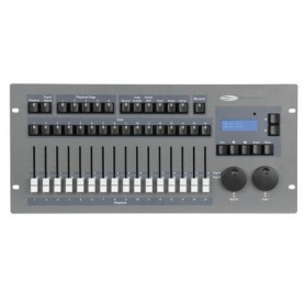 Mixer luci Showtec SM 16/2 FX Gestisce 16 motorizzati fino a 32canali cad1 consolle DMX